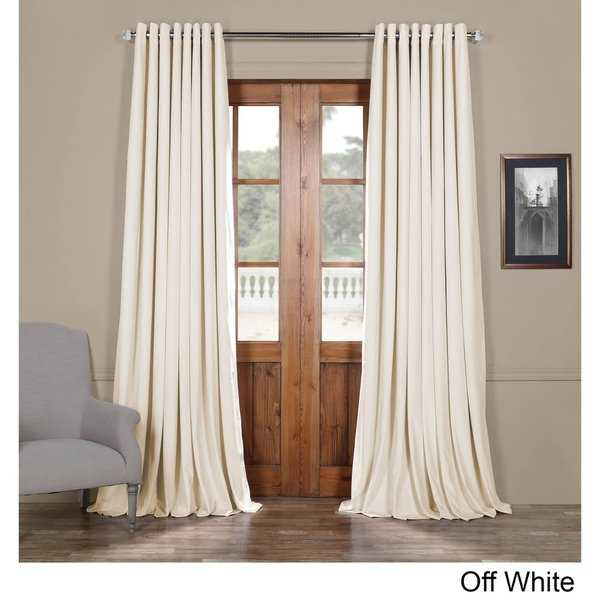 Exclusive Fabrics Signature Velvet Extra Wide Grommet Blackout Curtain