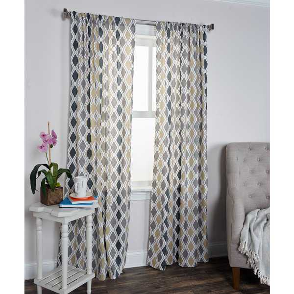 Arden Loft Mindwork Collection Diamond Pattern Cotton Curtain Panel