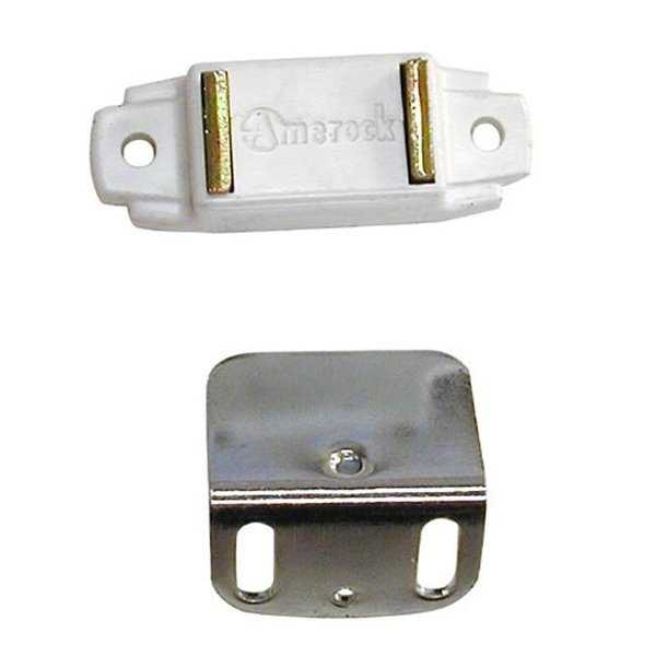 A09765 3W Amerock Magnetic Catch For Overlay Cabinet Door, White