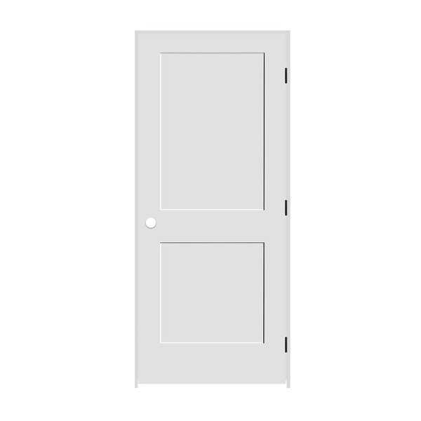 Trimlite 2068138-8402LH1D4916 24' by 80' Shaker 2-Panel Left Handed Interior Pre - Primed - N/A
