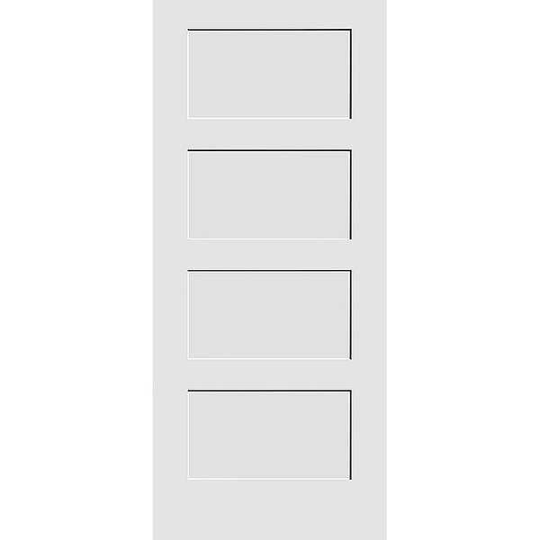 Trimlite 1668138-8444 18' by 80' Shaker 4-Panel Interior Slab Passage Door - Primed - N/A