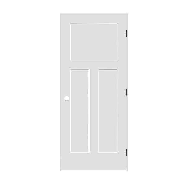 Trimlite 2268138-8403LH10B714 26' by 80' Shaker 1+2-Panel Left Handed Interior P - Primed - N/A
