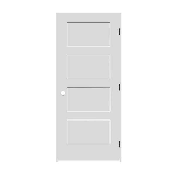 Trimlite 2268138-8444LH10B714 26' by 80' Shaker 4-Panel Left Handed Interior Pre - Primed - N/A